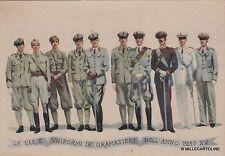 # MILITARI - GRANATIERI DI SARDEGNA: LE VARIE UNIFORMI NELL'ANNO 1937 XV