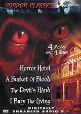 Horror Classics 4 Movies ~ Horror Hotel A Bucket of Blood The Devil's Hand ~ DVD