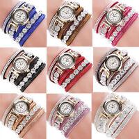 New Fashion Women Ladies Analog Quartz Bling Diamond Bracelet Dress Wrist Watch