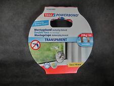 tesa TRANSPARENT 20kg/m 55744 doppelseitiges Montagband 5m x 19mm (1m=1,90€) BR