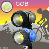 Bike COB LED Headlight Bicycle Front Ride Riding Cycling Head Light Lamp AAA Hot