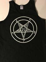 PENTAGRAM MEN'S TANK TOP T Shirt Satan satanic Black Metal GREAT EVIL GIFT S- XL