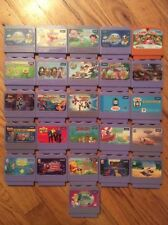 "LOT OF 26 V-TECH ""V-SMILE"" GAME CARTRIDGES , (VARIETY) DISNEY, MARVEL ,DC & MORE"