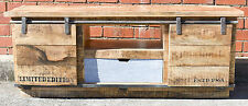 Vintage Industrial Sliding Door Entertainment Unit TV Stand
