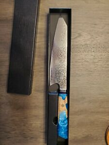 JAPANESE 8 INCH VG10 67 LAYER DAMASCUS CHEF KITCHEN KNIFE RESIN HANDLE SANTOKU