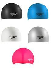 SPEEDO Silicone LONG HAIR Adult Swimming Soft Pool Bathing Cap Swimcap 7510036