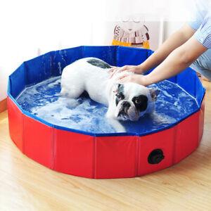 Pets Dog Wash Bath Tub PVC Water Swimming Pools Foldable Washable Portable Puppy