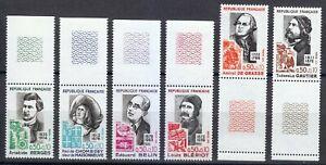 France 1972 MNH Sc B454-B459 Famous man. Inventor.Writers.Heroes.Aviator **