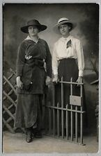 Edwardian/1920's era PC - Young ladies dressed in lovely period clothing - Ely