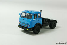 Scale model of the car 1/43. MAZ-504V truck tractor of 1977 (blue)