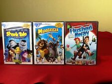Shark Tale/Madagascar/Flushed Away~New~3 Dreamworks Movies Lot