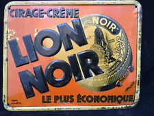 Tôle Publicitaire Ancienne Advertising Antique French Lion Noir
