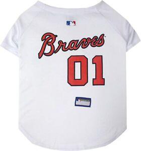 Pets First Officially Licensed MLB Atlanta Braves Pet Shirt Dog Mesh Jersey
