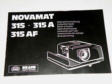 Originale Bedienungsanleitung manual für Diaprojektor Braun Novamat 315 A/AF
