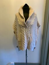 Massimo Dutti Chunky Cable Knit Short Sleeve Jumper Size M