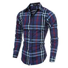 Luxury Fashion Mens Slim Fit Shirt Long Sleeve Dress Shirts Casual Shirt Tops