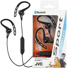JVC HAEC20BT BLACK Sport Wireless Bluetooth In-Ear Headphone Ear Clip /Brand New