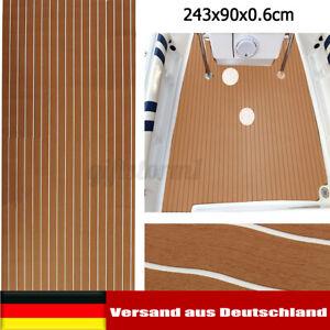 240x90cm Teak EVA Schaum Boot Yacht Bodenbelag-Matte Deck Teppich Selbstklebend
