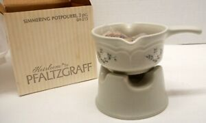Pfaltzgraff Simmering Potpourri with butter warmer with stand