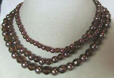 Premier Designs 3 strand brown/maroon beaded necklace