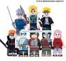 8 PCS Minifigures Naruto Bricks Uzumaki Naruto Uchiha Sasuke Jiraika Lego MOC