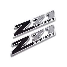 2pcs Black/Chrome Z71 Off-Road Door Fender Rear Emblem Badge for Chevrolet GMC