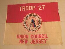 Boy Scout 1957 National Jamboree Troop Flag Union Council New Jersey 4'x5' Tr 27
