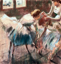 Three Dancers Preparing for Class by Edgar Degas A2+ High Quality Canvas Print