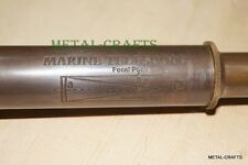 Vinatge Nautical Brass Telescope Handhold Engraved 15 Telescope Carved Fernroh