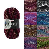 King Cole Orbit Super Chunky Knitting Yarn Knit Wool Acrylic Mix 100g Ball