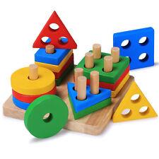 Baby Shape Sorter Developmental Geometric Puzzle Board Blocks Wooden Toddler Toy