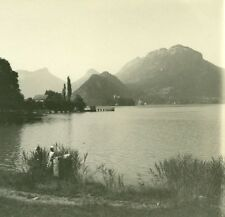 France Haute Savoie Lake Annecy Talloires old Possemiers Stereo Photo 1920