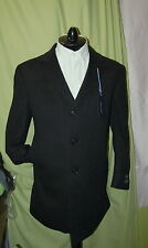 NWT TOMMY HILFIGER mens 3 button front charcoal 100% cashmere coat 46R $1,295