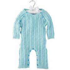 Mud Pie Blue Cable Knit One-Piece  0-6 Months - DISCONTINUED