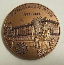 MÉDAILLE BRONZE Automobile Club de France 1895-1995 monnaie de Paris