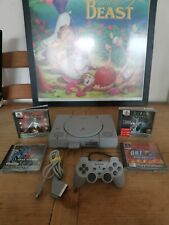 Sony PlayStation 1 Dual Shock Bundle Grey Console 4 games and scart cable