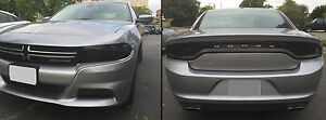 15-19 DODGE CHARGER PRECUT SMOKED TAILLIGHT / HEADLIGHT / SIDEMARKER TINT COVERS
