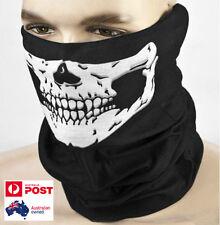 Skull Face Mask Shield Neck Headwear Bandana for Motorcycle Skeleton Holloween