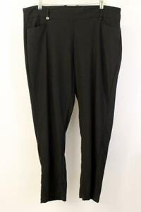 CALLAWAY Black ATHLETIC GOLF PANT Modern Straight-Leg High Rise Womens PLUS 3X