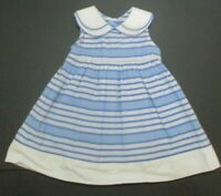 TODDLER GIRLS GYMBOREE ALL RUFFLED UP BLUE STRIPED DRESS SIZE 12-18 MONTHS