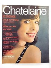 Vintage October 1972 Chatelaine Large Magazine Vol 45 Number 10 K609