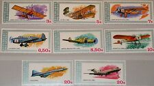 GUINEA 1979 850-57 A 774-81 Aviation History Airplanes Flugzeuge Planes MNH