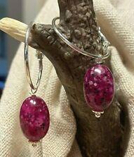 Un par de color rosa pálido de Cristal Plata Plateado Lágrima Criolla Gancho Pendientes nuevo