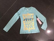 NWT Juicy Couture New & Genuine Girls Age 8 Green Long Sleeved T-Shirt With Logo