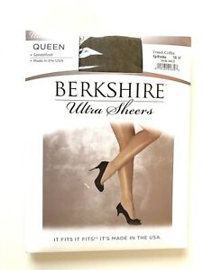 BERKSHIRE Ultra Sheers Pantyhose Size Q/Petite French Coffee Style 4413
