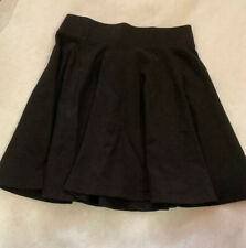 DIVIDED Black Skirt Twirl Circle HM Stretch Mini Skater Stretch Xs