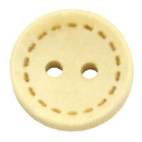 200PCs NEW Wood Sewing Buttons Scrapbooking 2 Holes Round Natural 13mm Dia.