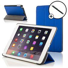 Pelle Blu Smart Custodia Pieghevole Cover per Apple iPad Air e Stilo