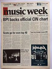 MUSIC WEEK MAGAZINE  12 JANUARY 1991  ASTER AWEKE   LS