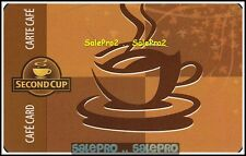 SECOND CUP 2007 HOT STEAMED COFFEE #122733 CARTE CAFE COLLECTIBLE GIFT CARD